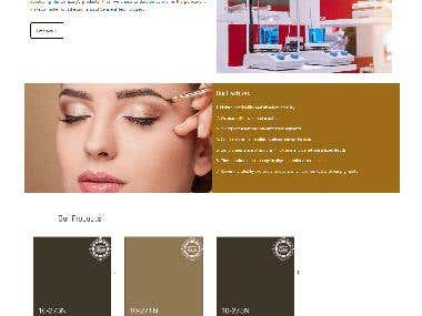 Make up paint selling ecommerce site