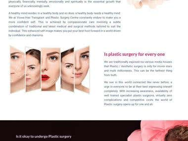 Plastic Surgery and hair transplant website in wordrpess