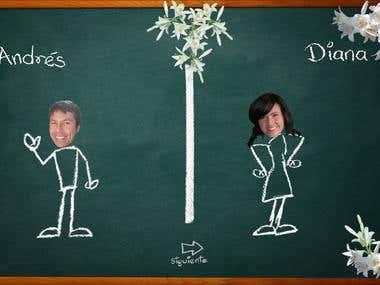 Flash animation for wedding  invitation