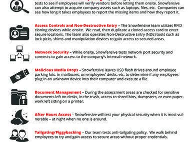 Flyers for Snowfensive Cyber Security company