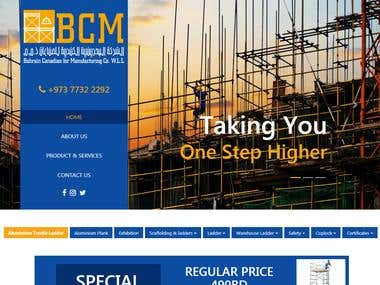 The website has been built for Bahrain Canadian Manufacturing . It has been manufacturing access solutions since the year 2000. The parent company GSF has been trading, assembling and exporting products for over 20 years. Through its expertise and market knowledge, Bahrain Canadian Manufacturing was born, introducing our regionally renowned brands BCM.  This website has been designed using html5, CSS3 and bootstrap.   You can visit website on http://bcm.co.com/