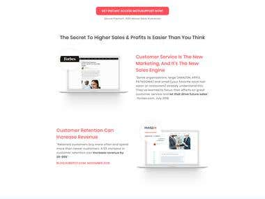 Design landing page as like the competitor's funnel in ClickFunnels.