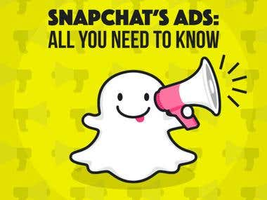 I run paid promotion into snapchat to get leads sales and marketing promotions and handle your accounts