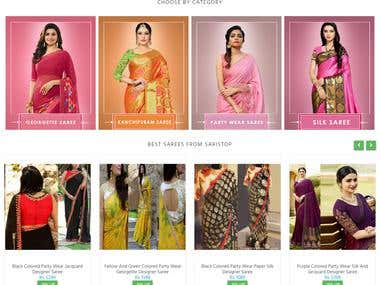 Saristop is an e-commerce website, developed using Codeigniter php and designed in HTML5, CSS3, BOOTSTRAP, JavaScript and jQuery.