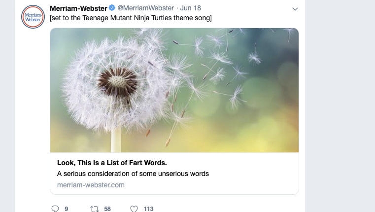 merriam webster twitter content brands doing social media well