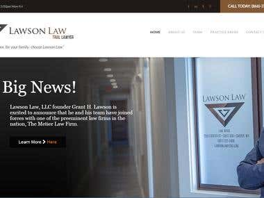 I have developed this Website using WordPress and WordPress Plugins.  http://www.lawsonlawyers.com/
