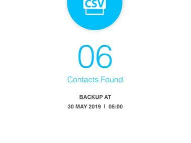 This app is a public contacts backup apps  for the iPhone numbers. People can easy backup their iPhone contact numbers and can send  to Email for permanent backup for feature uses  if they lose their phone. They can integrate for restore this backup from  previously restored in Email .