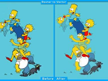 All types of raster image vectors can be possible...............