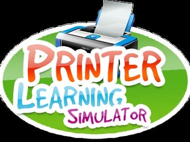 Printer learning simulator teaches children how to use printers, scanner and photocopy machines.