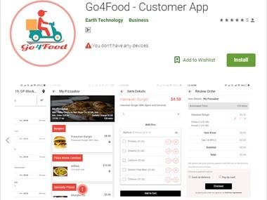 https://play.google.com/store/apps/details?id=com.go4food.customerapp  Food ordering application that gives the consumers the convenience and speed of ordering a healthy option in their area. Provide a common platform to Restaurants for Online Ordering and Reservation and earn commission/subscription from restaurants.
