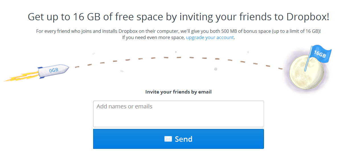 growth hacking dropbox referral program