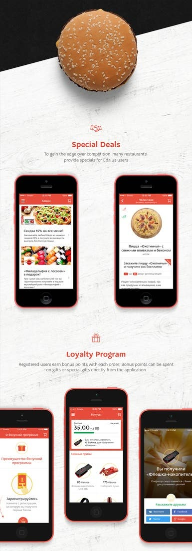 Food Delivery APP UI for Eda