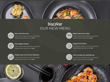 This Sushi website was converted from PSD to HTML and Wordpress. PSD design is by Freepik.