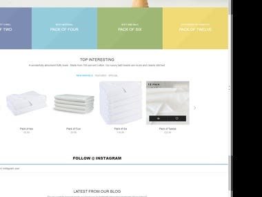 A website that sells products online especially towels, demanded a dynamic and professional website url : zartexusa.com