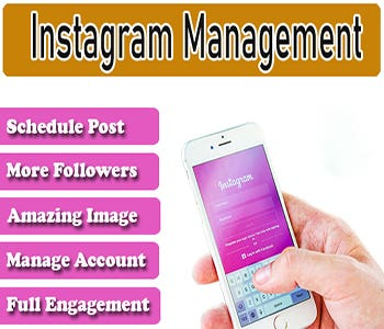 I will grow and manage your business or personal account ORGANICALLY. I am an experienced and skilled social media manager, greatly contributed to make efforts for building up a business and gain profits. I am also a Graphics Designer. Instagram is one of the best platforms to show your services, products and also to sell increase Day by day.  Allowlyes  use Follow/Unfollow method ( not use bot) Increase traffic and engagement New and real people following Follow users by location, hashtags and competitor accounts Use Trending Hashtags Full-Time Engagement scheduled posts Content creation (if you need)  What you provide me for the work? Username Password   Targeting information (Similar accounts, competitors or hashtags)