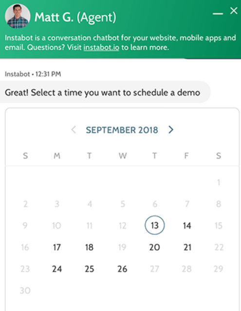 ai chatbot calendar booking