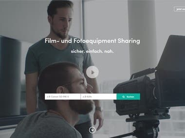 I've developed the site of Studio for movie in Germany. Vue.js is used in FrontEnd development and Django is used in BackEnd. http://www.gearo.de/
