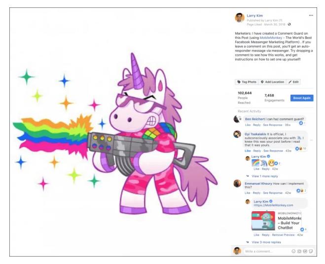 larry kim facebook ad targeting autoresponder