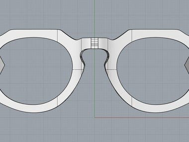 Frame designed for 3d printing with organic materials