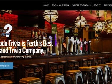 Komodo Trivia is Perth's Best Quiz and Trivia Company. The website is built with Imcreator.