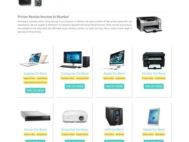 A website for computer rental services.