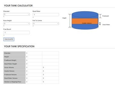 its tank calculator, it is used to calculate ratio of water in a tank to analysis different purpose