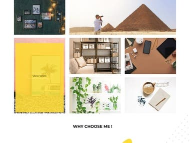 My design profile showcases my service work simplicity in design