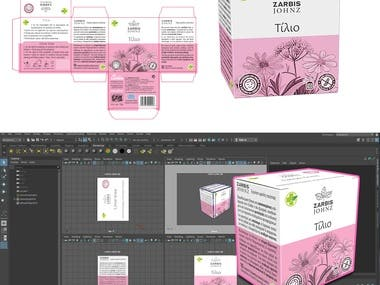 Package design and a 3d mockup done for a client.