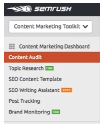 semrush content audit