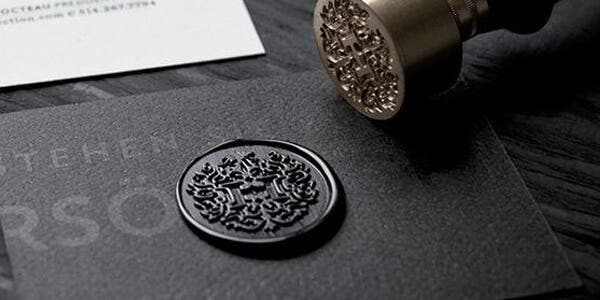 Seal design for modern business card