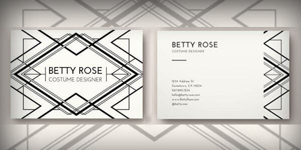 Black and white design for modern business card""