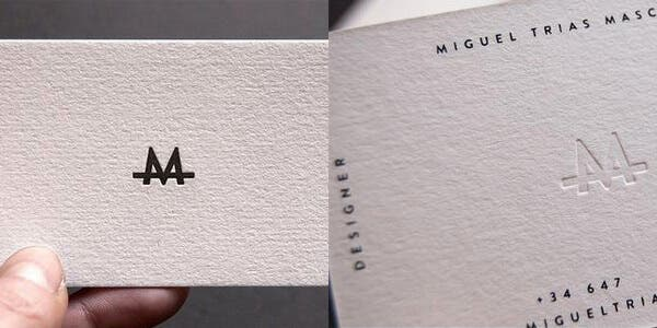 White space design for modern business card