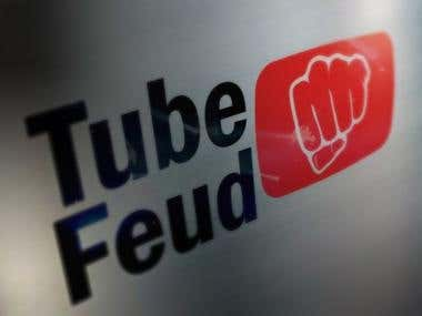 Tube Feud logo and site design.