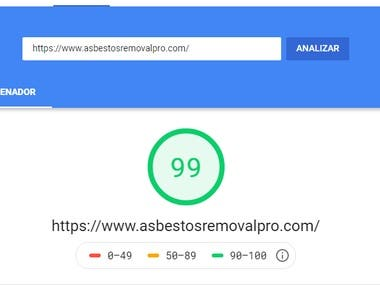 Increased website speed and score