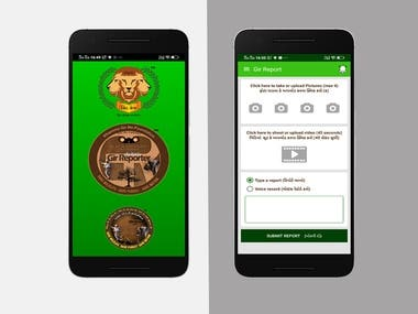 This application main purpose is showing news of Gir National Park.