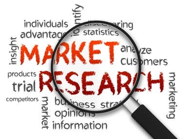 Market research is the process of determining the viability of a new service or product through research conducted directly with potential customers. Market research allows a company to discover the target market and get opinions and other feedback from consumers about their interest in the product or service.  The four main uses of market research, by commercial organisations, in descending order of importance (in terms of spend) are: Monitoring performance, for example ad tracking, brand awareness, viewing figures, usage, customer satisfaction, mystery and shopping. I will help you with my extensive experience.