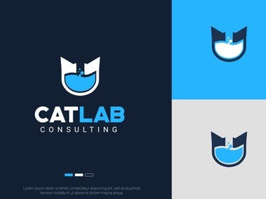 "Logo design for a company called ""CatLab"""