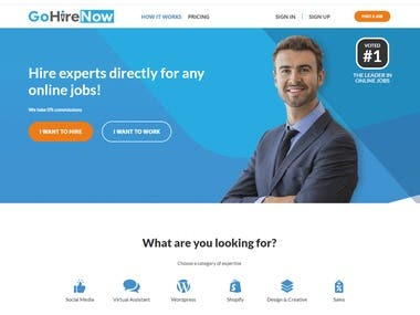 GoHireNow is a new freelance platform on which you can hire experts according to your needs.  This website is developed in the following stacks:  HTML CSS JavaScript Reactjs Asp.Net MVC Restful API's
