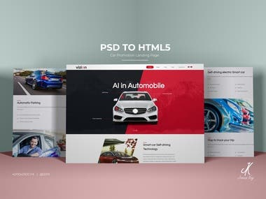 PSD To HTML5 Landing Page