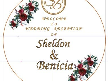 Wedding Event services like designing backdrop for stage, entrance board, welcomeboard, hashtag of couple names bride and bridegroom