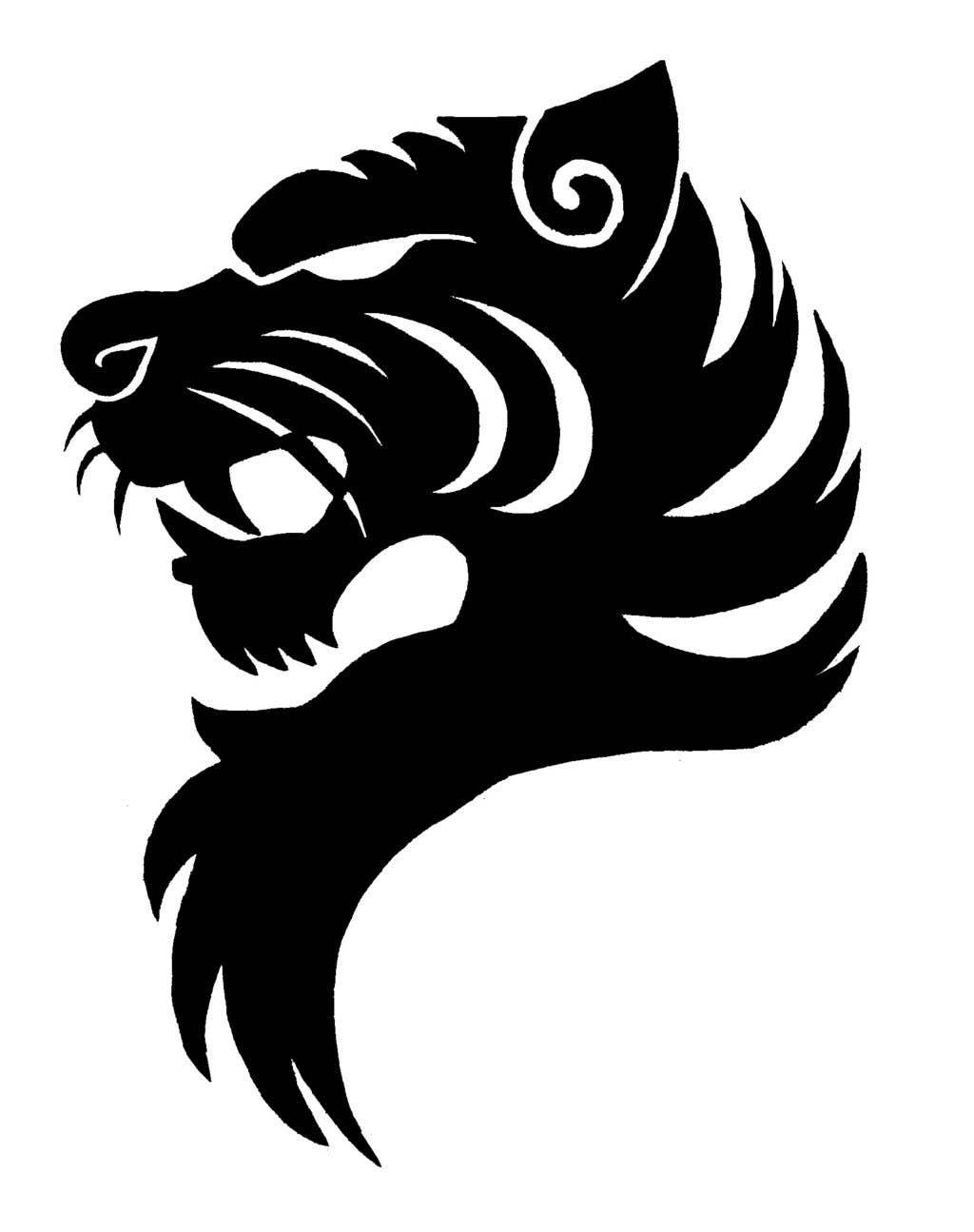 tiger head logo - HD1024×1295