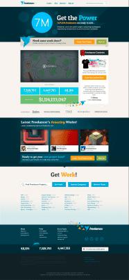 Freelancer homepage design 2